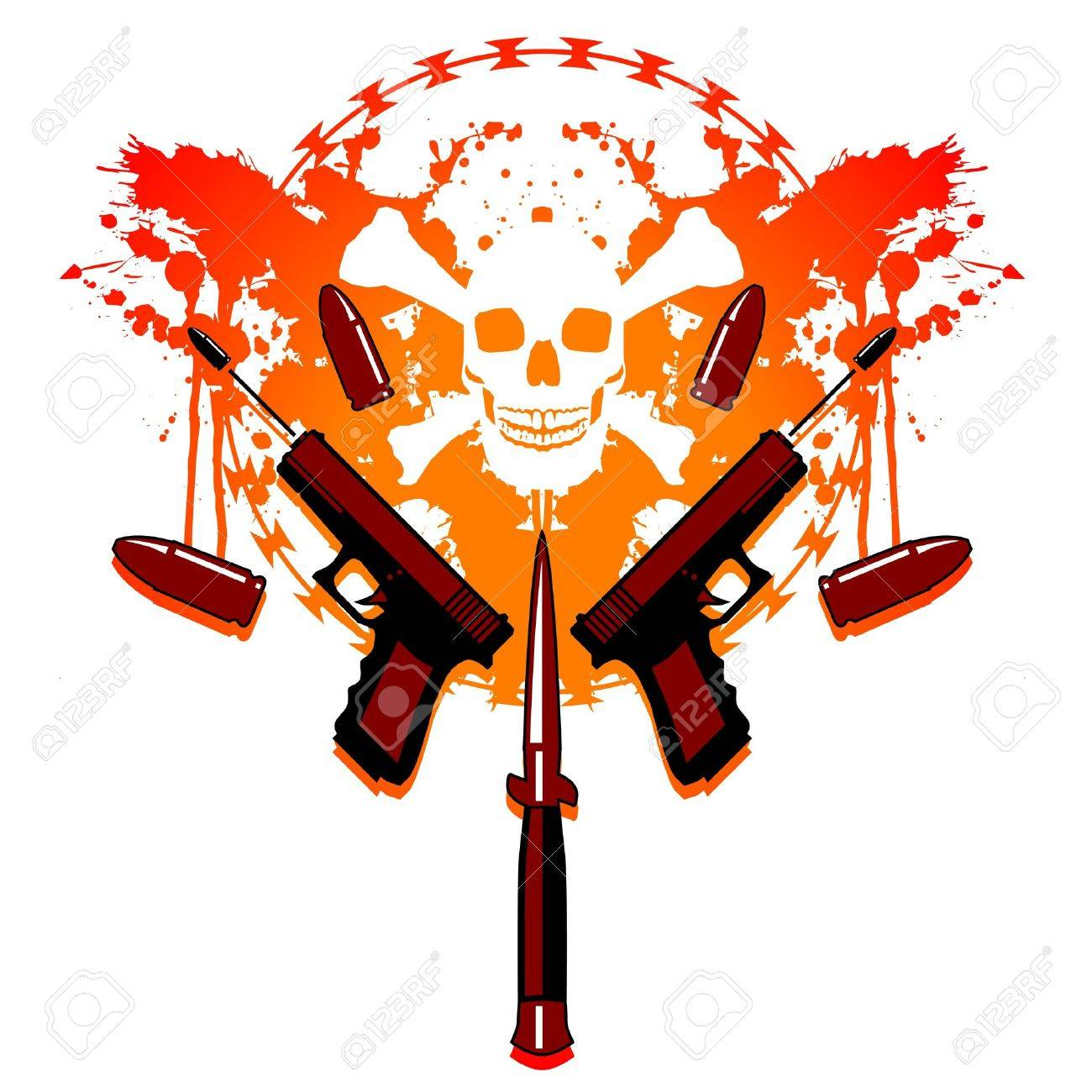 Bullets and blood Stock Vector - 11527052