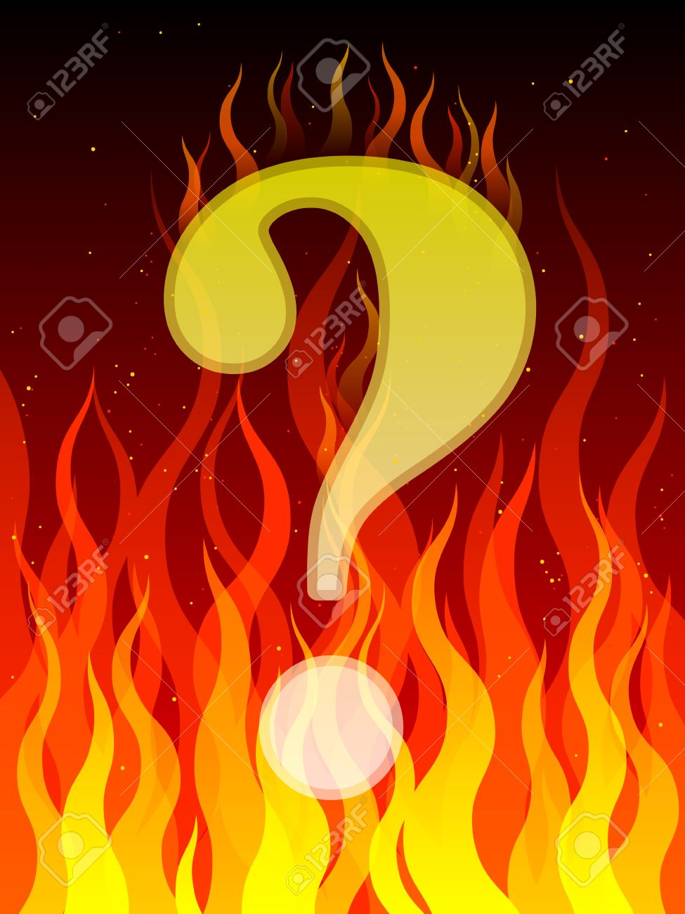 Burning question Stock Vector - 13629197