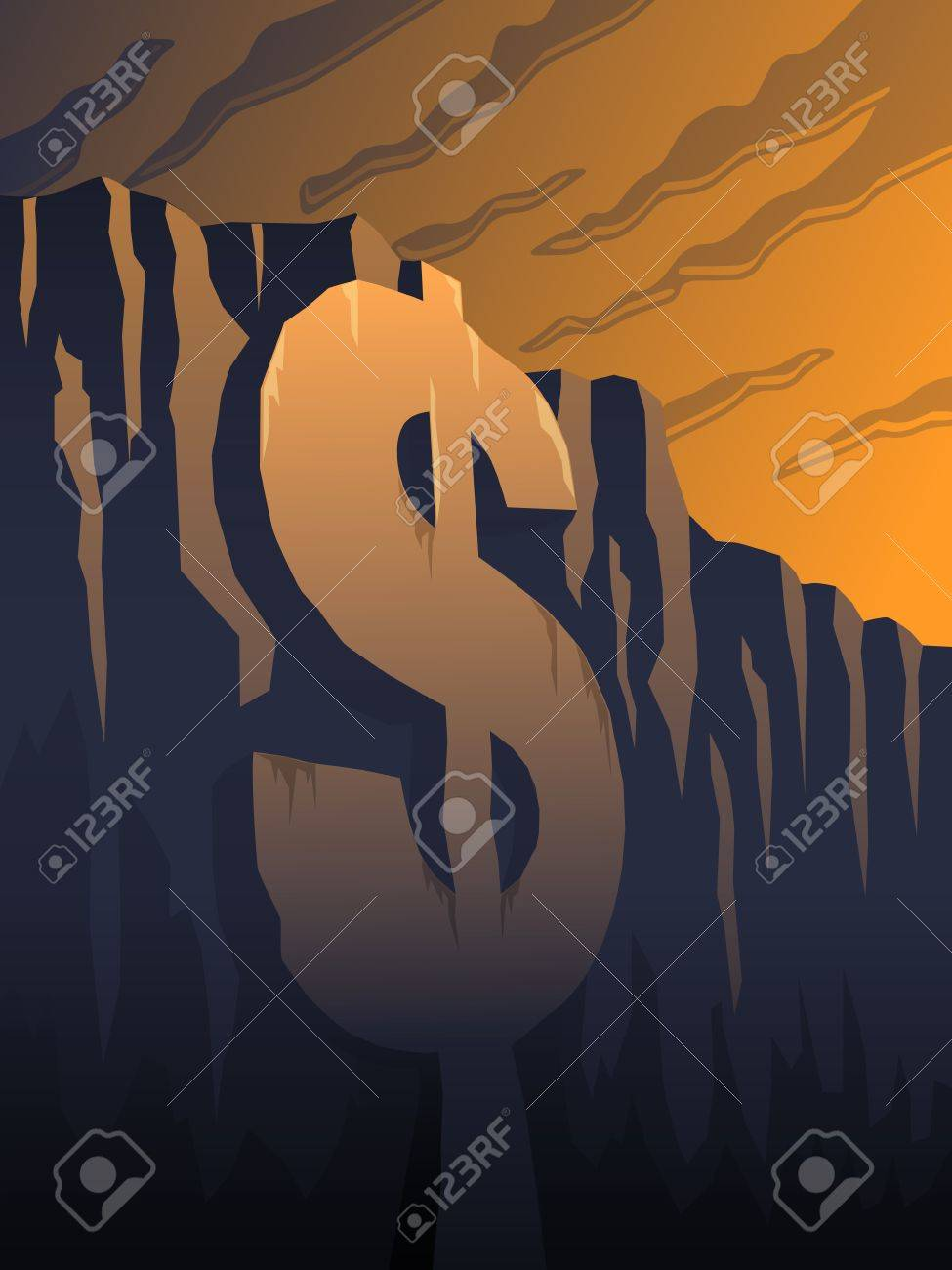 Fiscal Cliff Stock Vector - 16210395