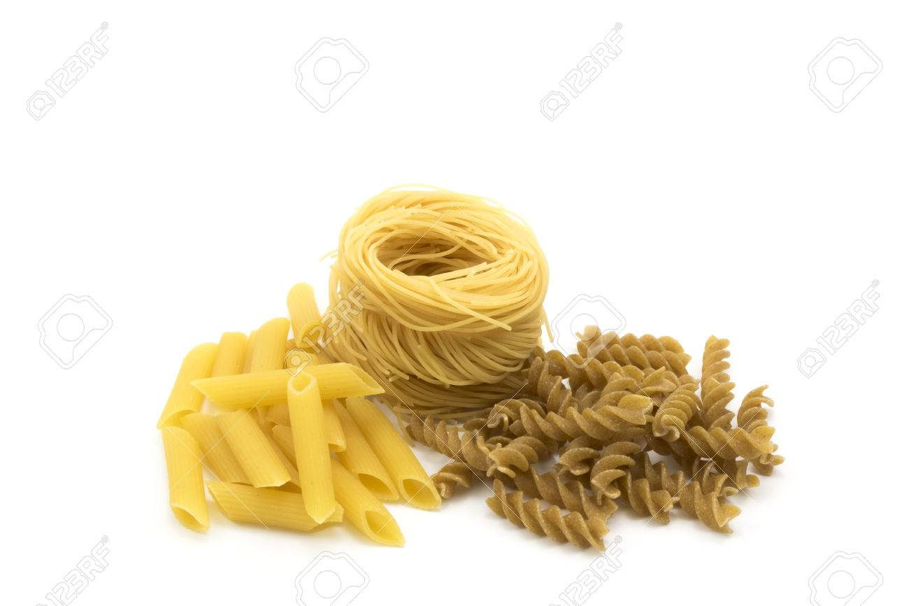 Spaghetti Angel Hair Pasta And Penne Pasta Stock Photo Picture And