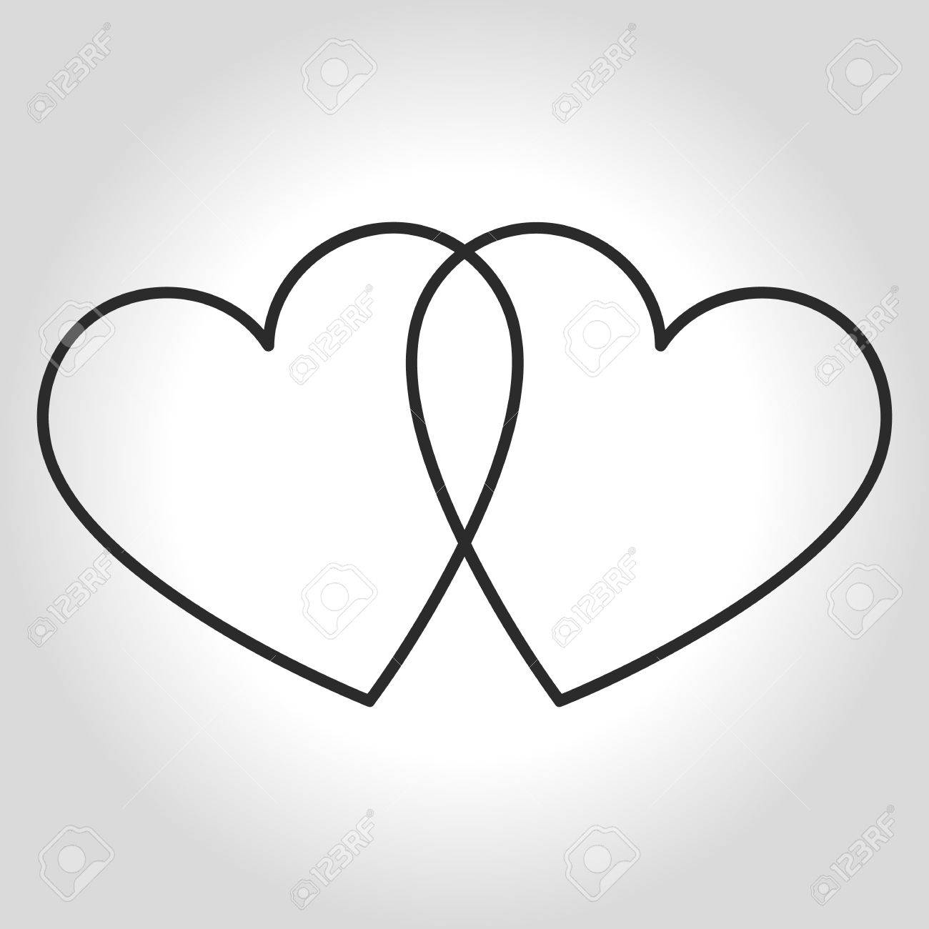 Hearts Icon Symbol Of Love On Valentines Day Royalty Free Cliparts