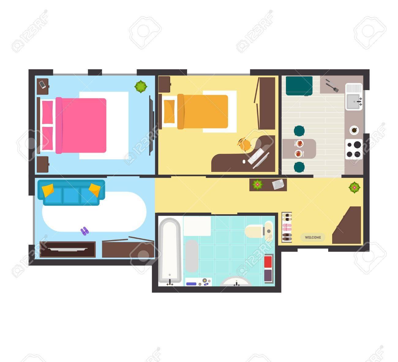 100 vector of floor plan apartment floor plan