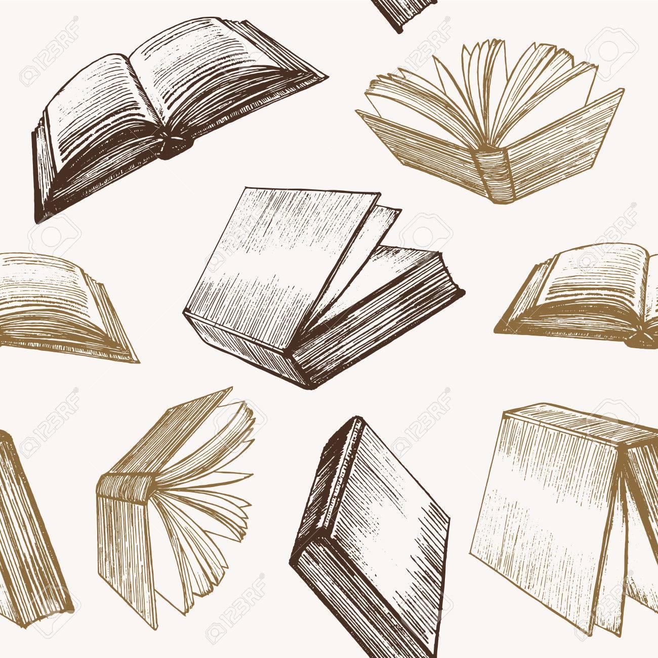 Motif De Fond De L Ebauche Du Dessin Du Livre Vecteur