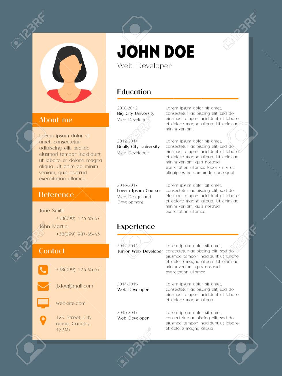 psd resume template uxhandycom flat psd resume template designer
