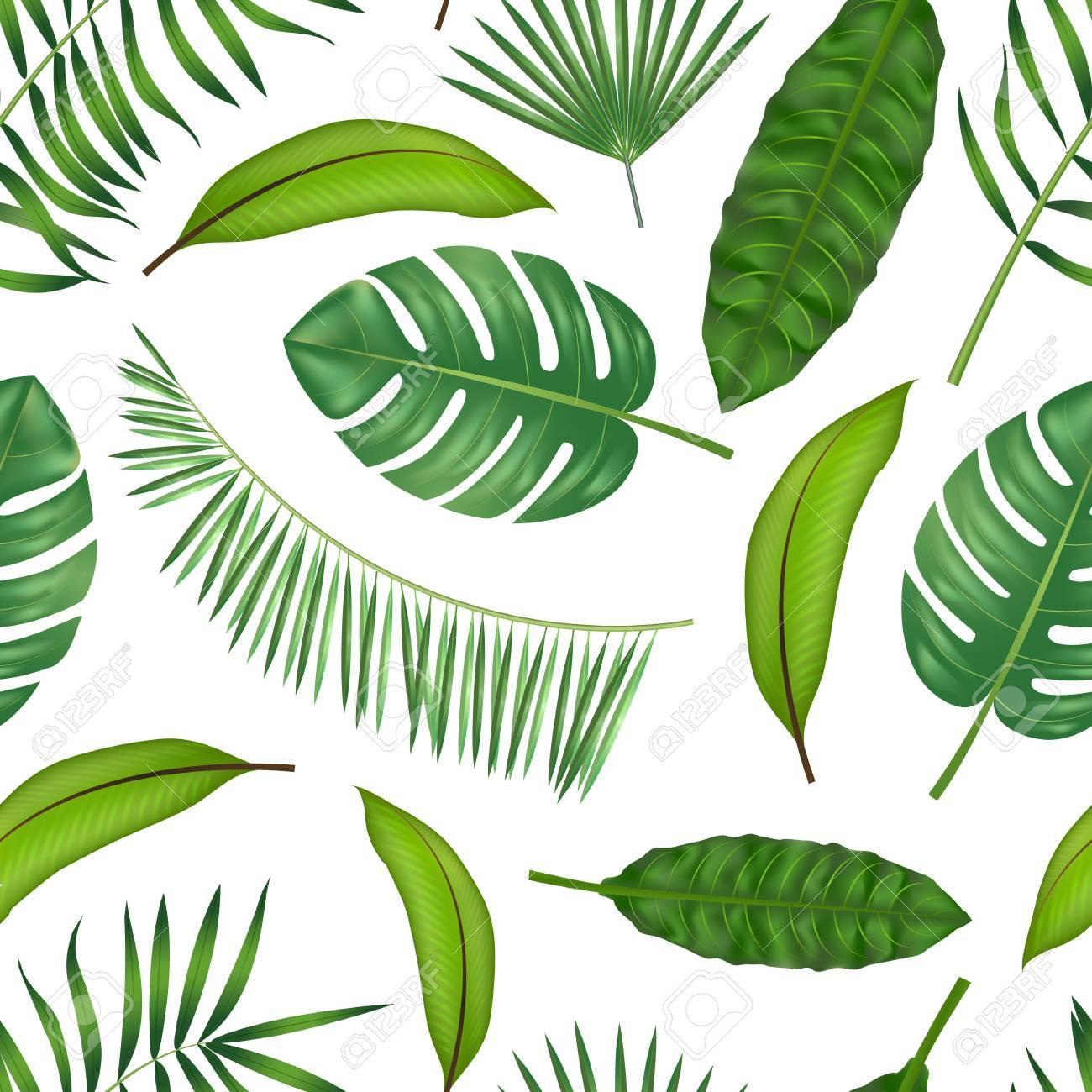 Tropischen Hawaii Lasst Pflanzen Muster Im 3