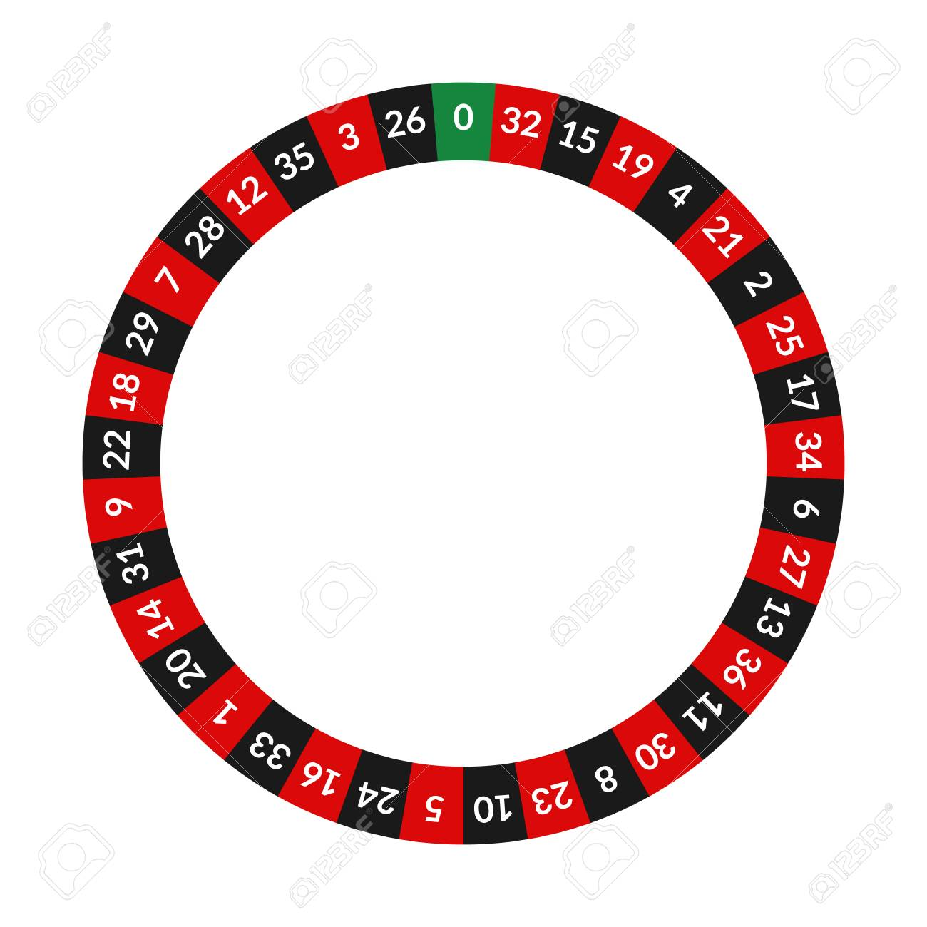 Realistic Detailed 3d Round Casino Roulette with Numbers. Vector - 122877071