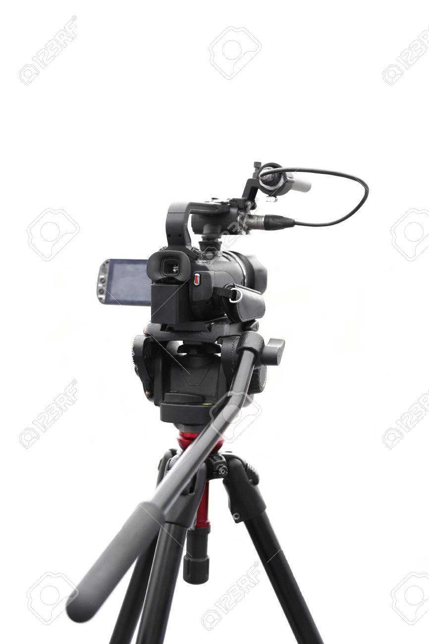 Selected focus camcorder isolated in white background - 40854371