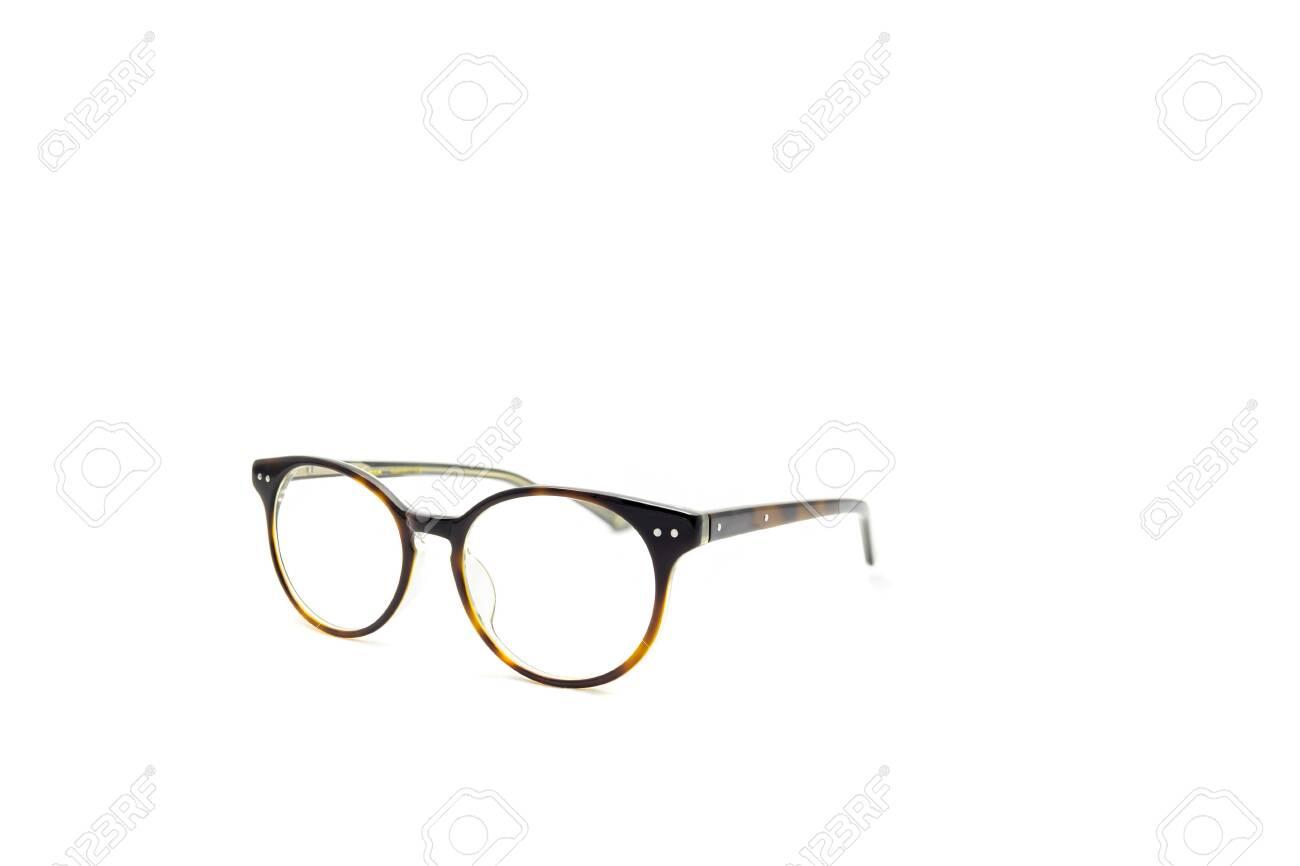 Round Frame Eye Glasses Isolated In White Background