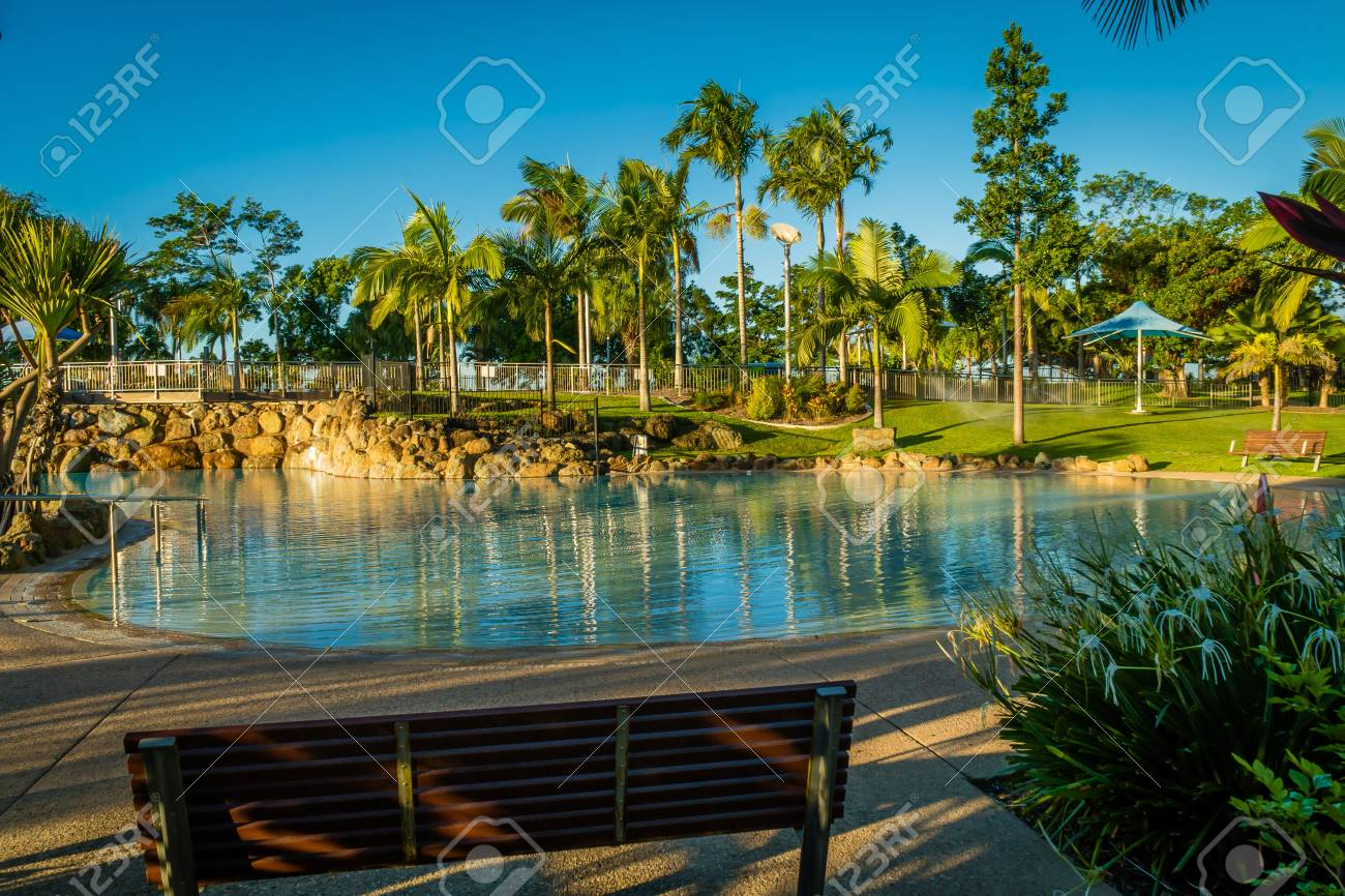 Swimming pool of bluewater lagoon in Mackay, Queensland