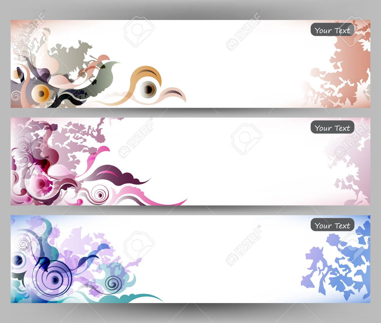 Abstract Colorful Flower Vector Background Brochure Template