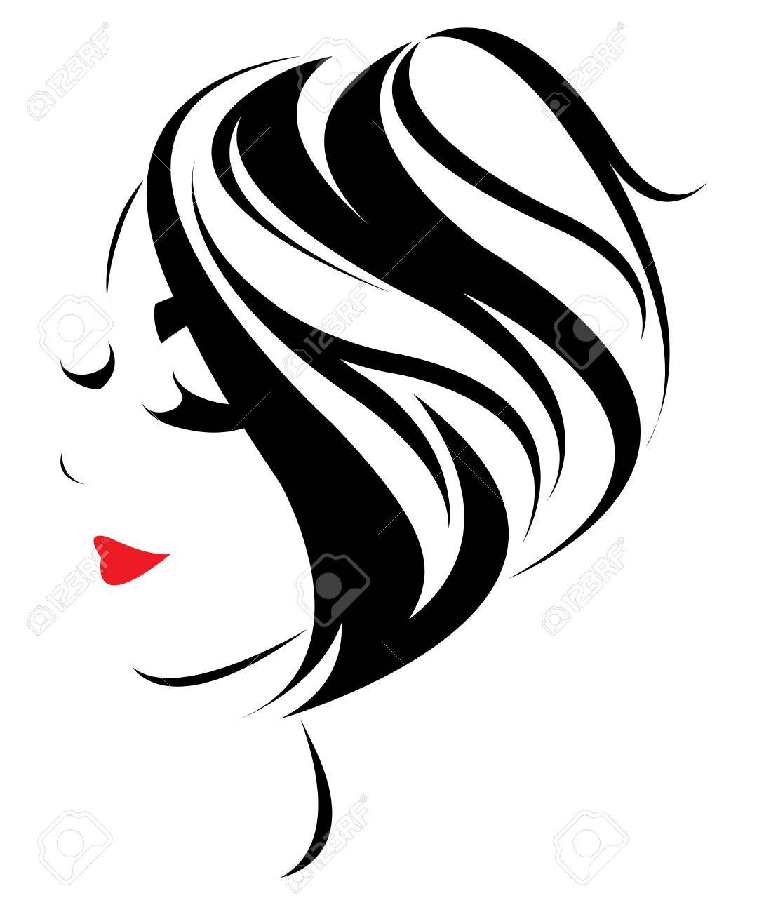 women short hair style icon women face on white background rh 123rf com vector hair testing vector hair tutorial