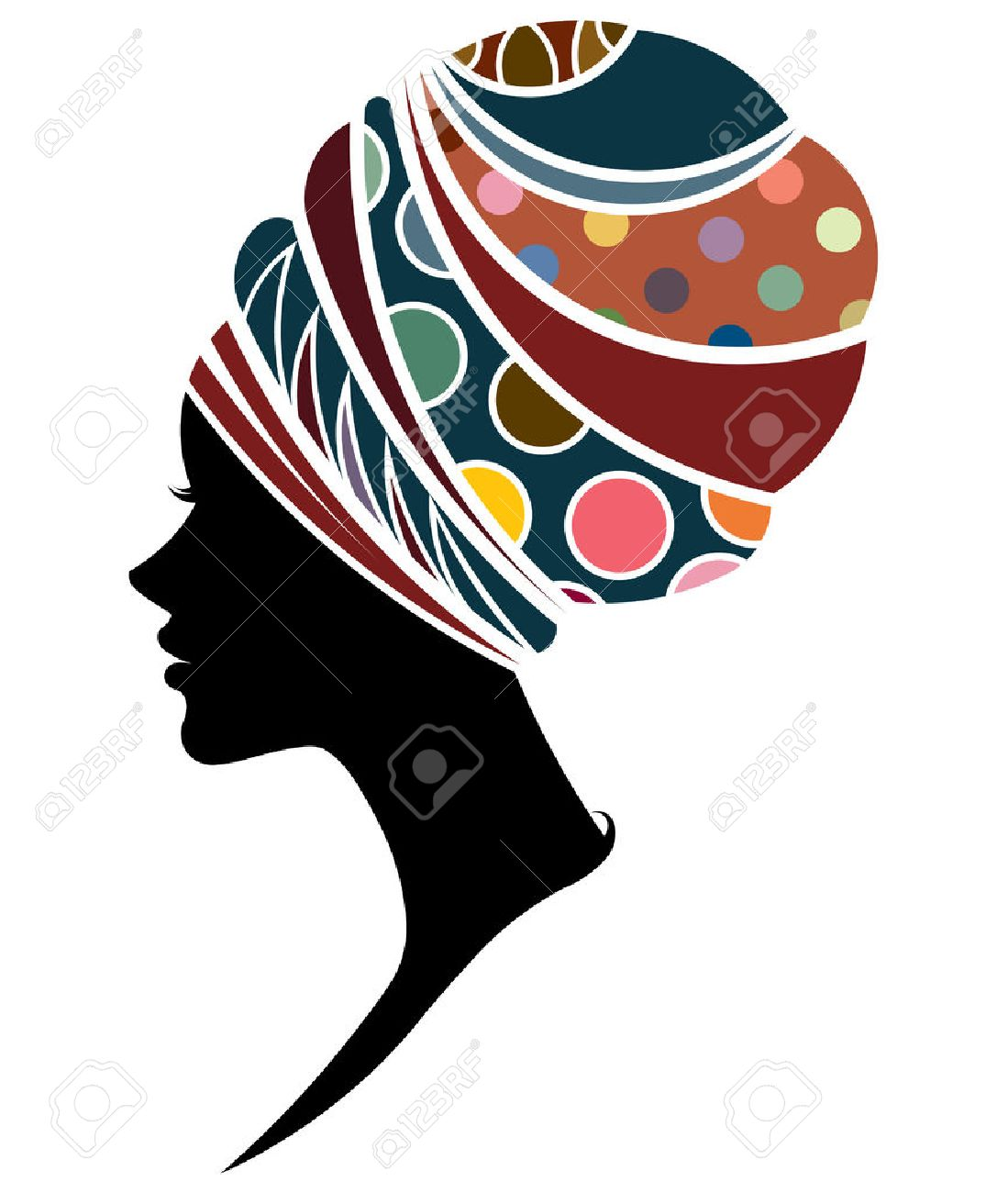 illustration vector of African women silhouette fashion models, beautiful black women on white background - 62776380