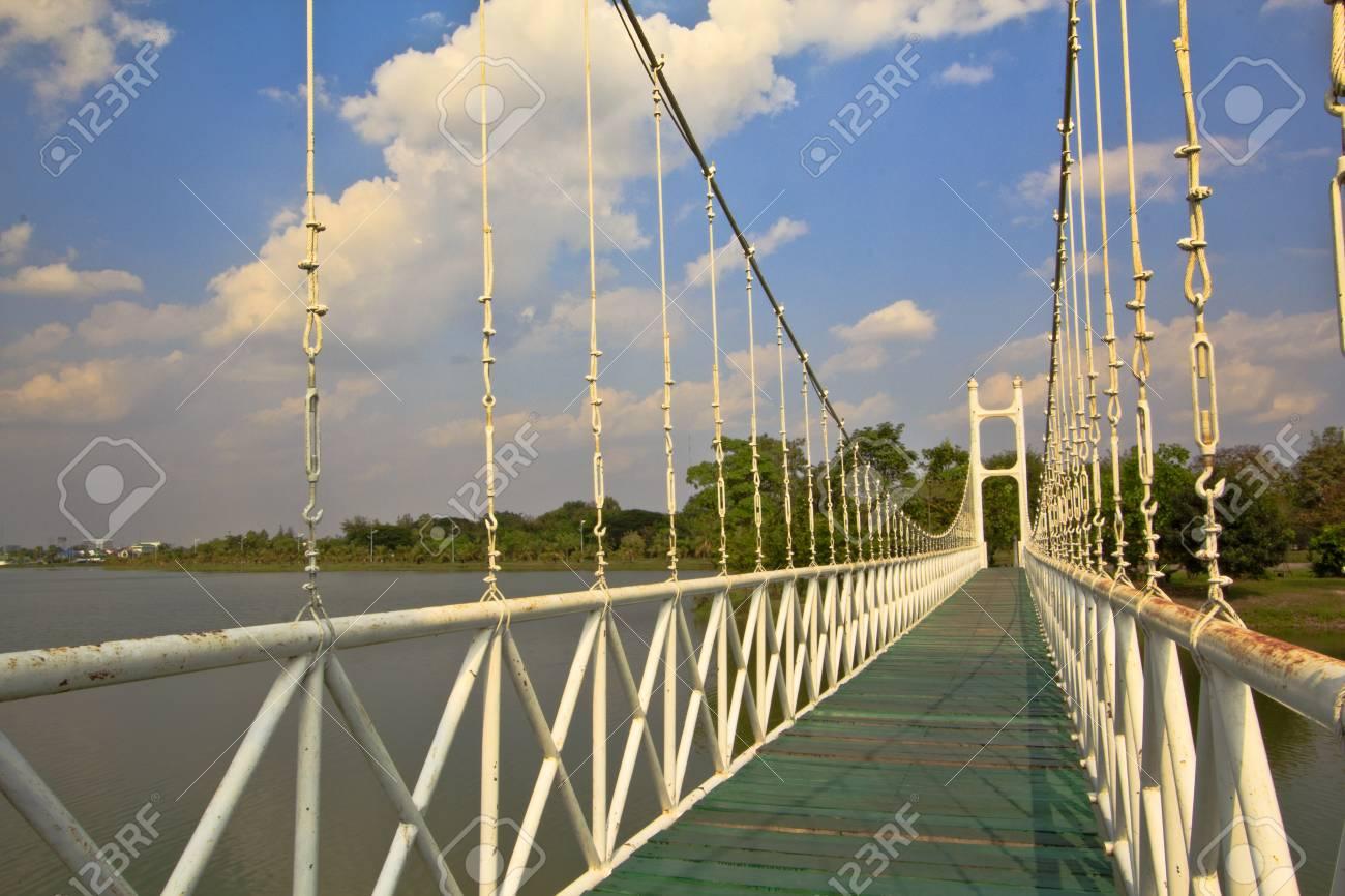 Rope bridge Stock Photo - 16850890