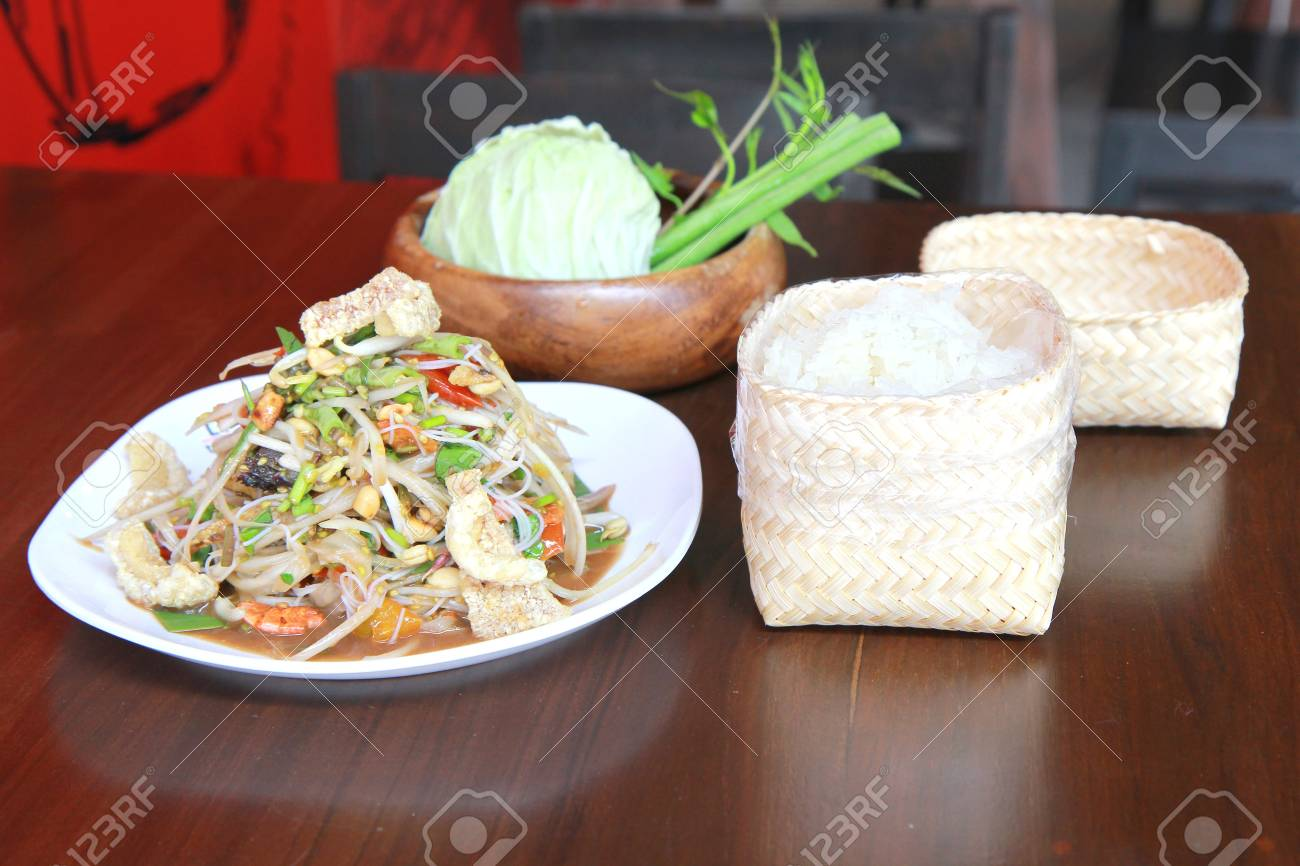green papaya salad thai food. Stock Photo - 18541036