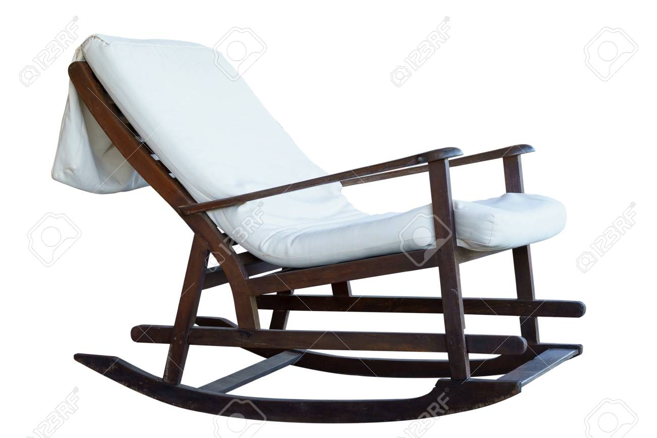Wooden beach lounge chair - Stock Photo Wooden Beach Lounge Chair On A White Background