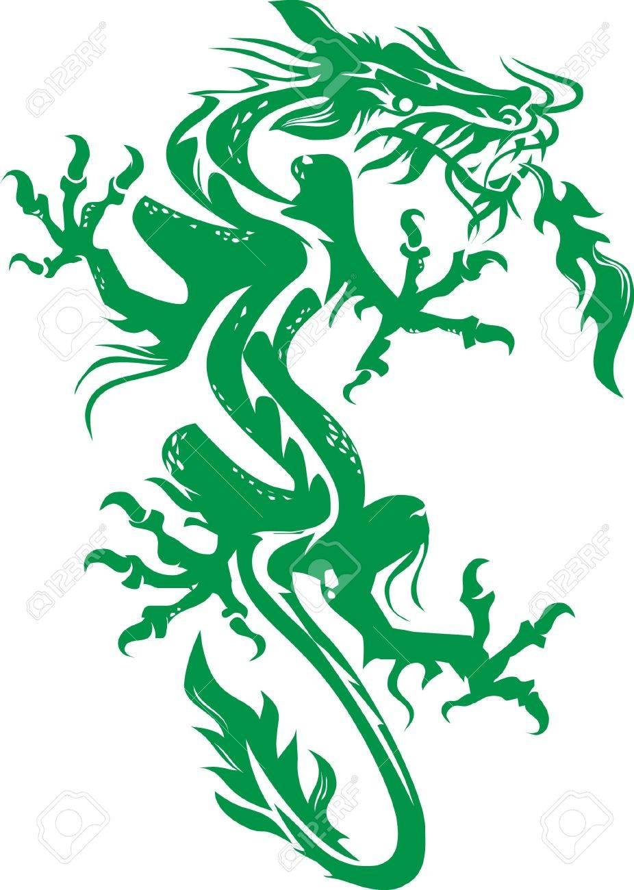 Green Dragon Stock Vector - 9886626