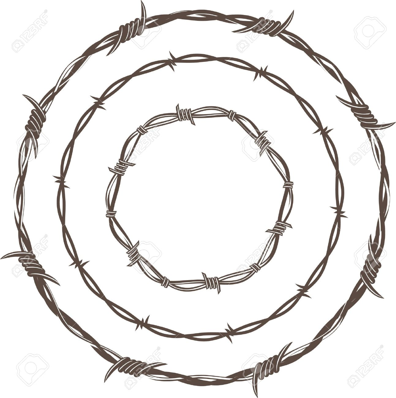 Barbed wire vector brush - Art Barbed Wire Barbed Wire Rings