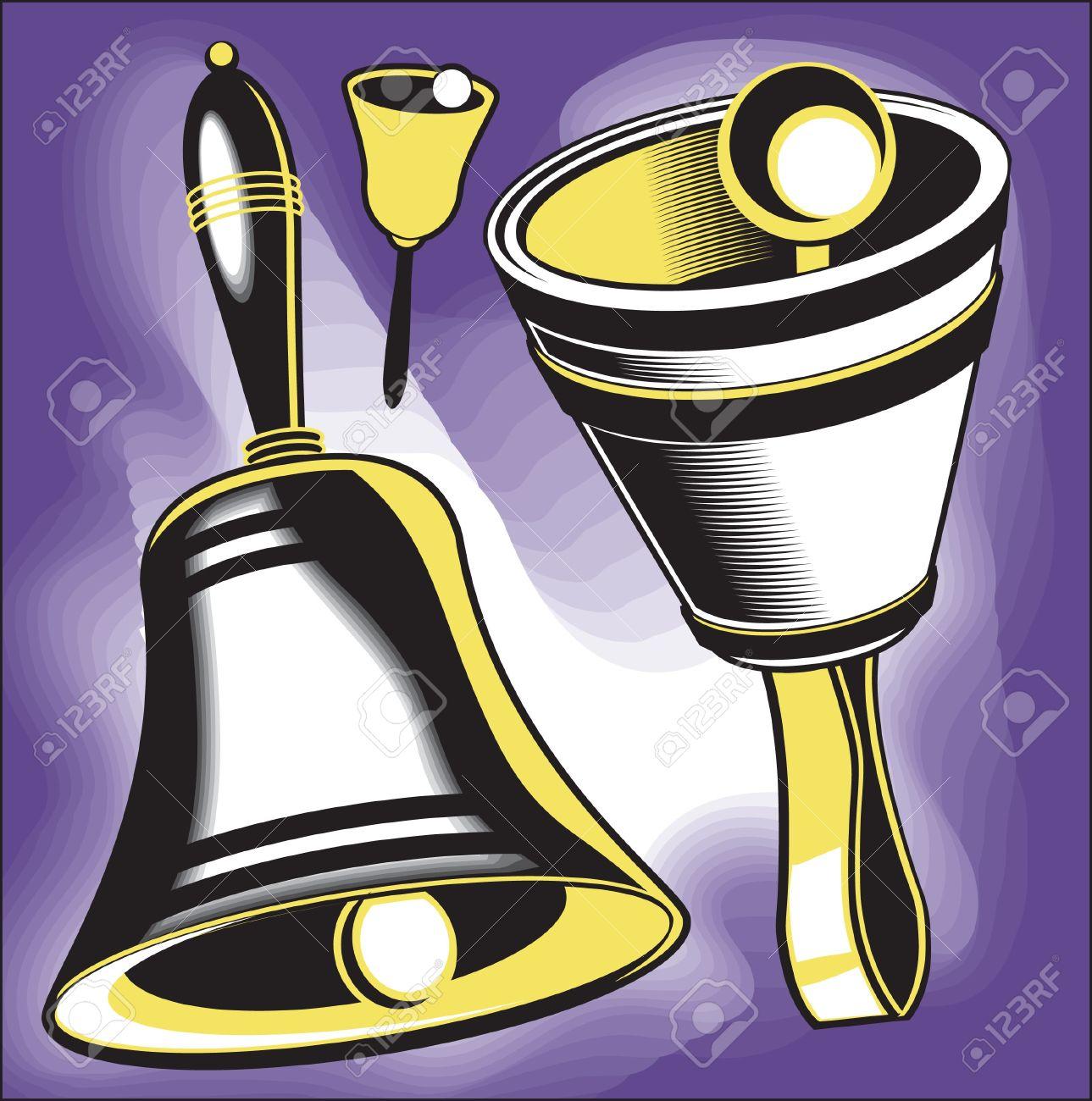 Clip art set of hand bell instruments Stock Vector - 10444270