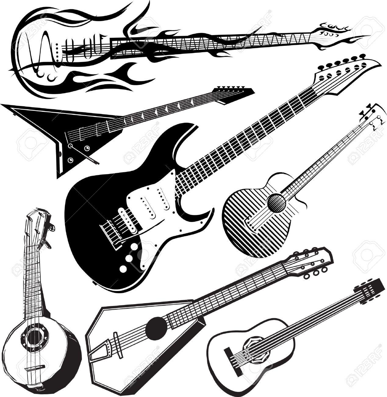 Guitar Collection Stock Vector - 12379753