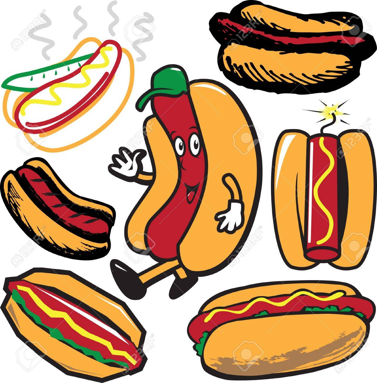 Hot Dog Collection Stock Vector - 12890987