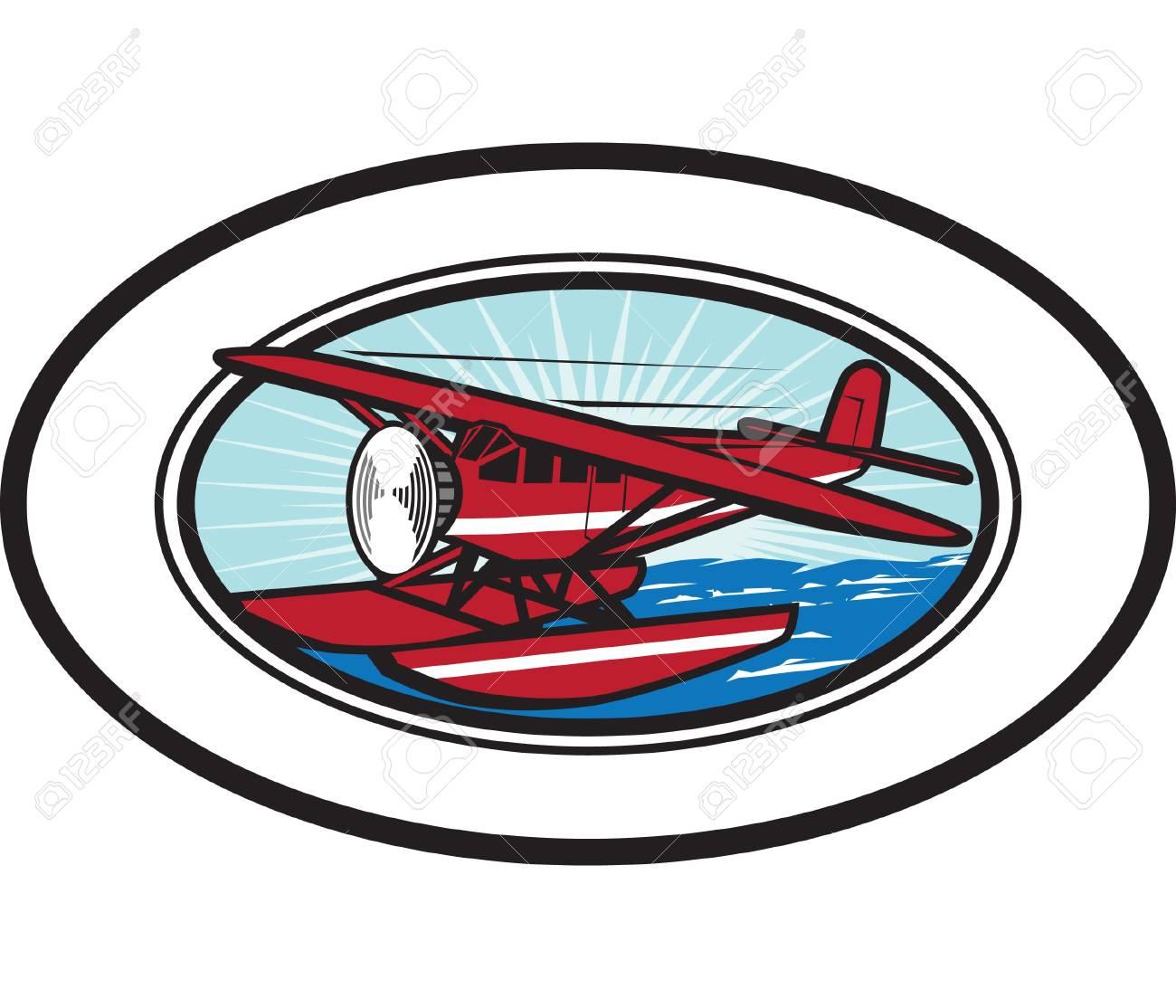 Waterplane Oval Stock Vector - 13179840