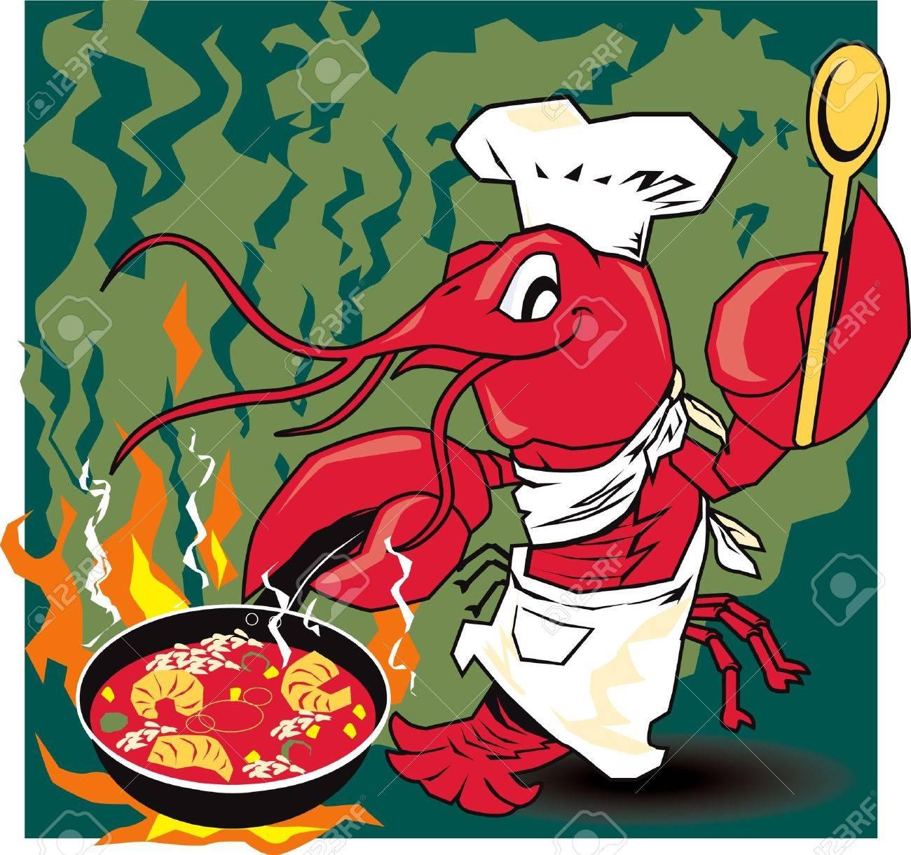 Crawfish Chef Stock Vector - 13232348