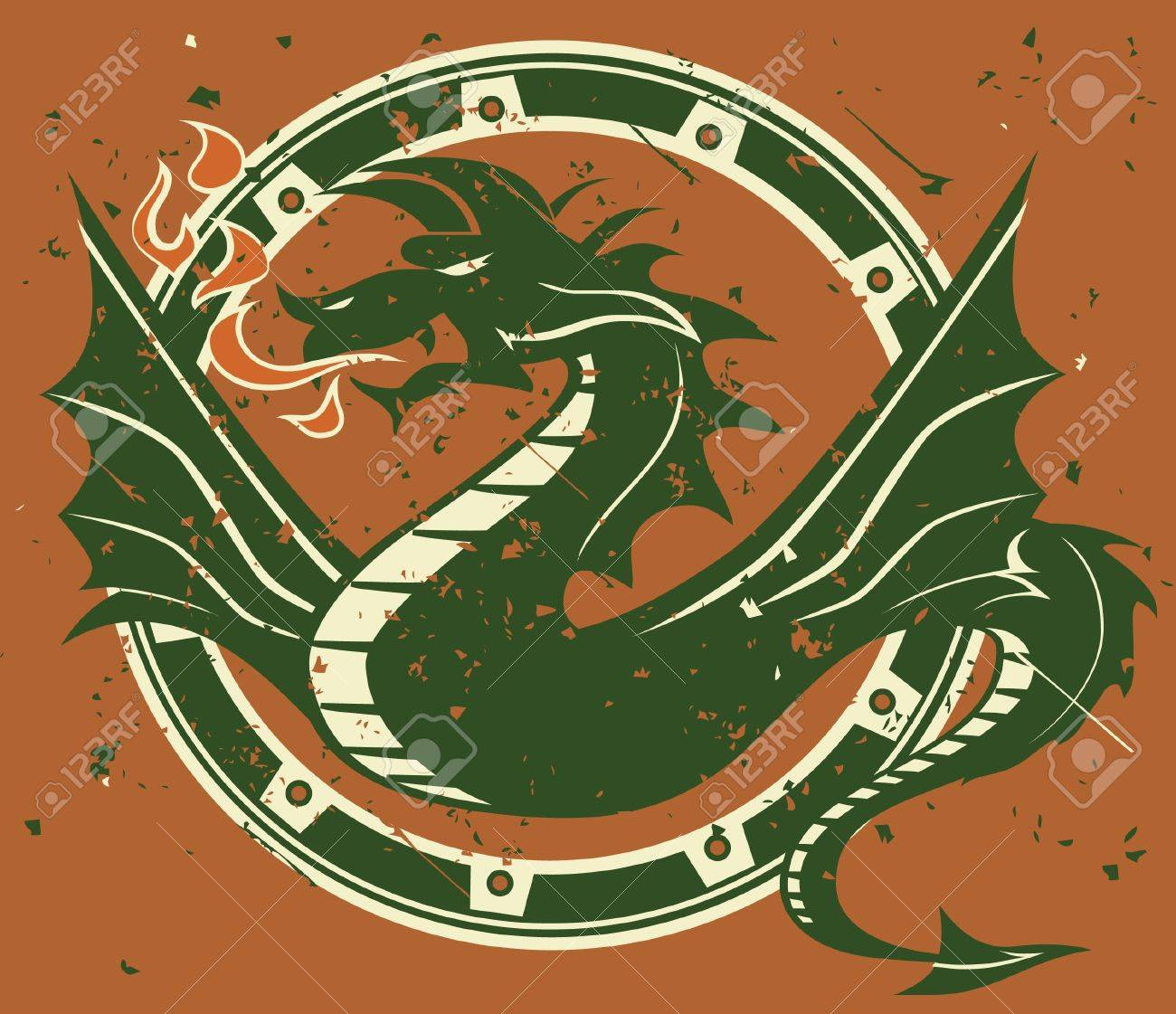Dragon Emblem Stock Vector - 13232356