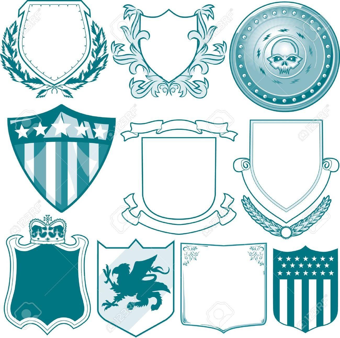Shield Collection Stock Vector - 13232388