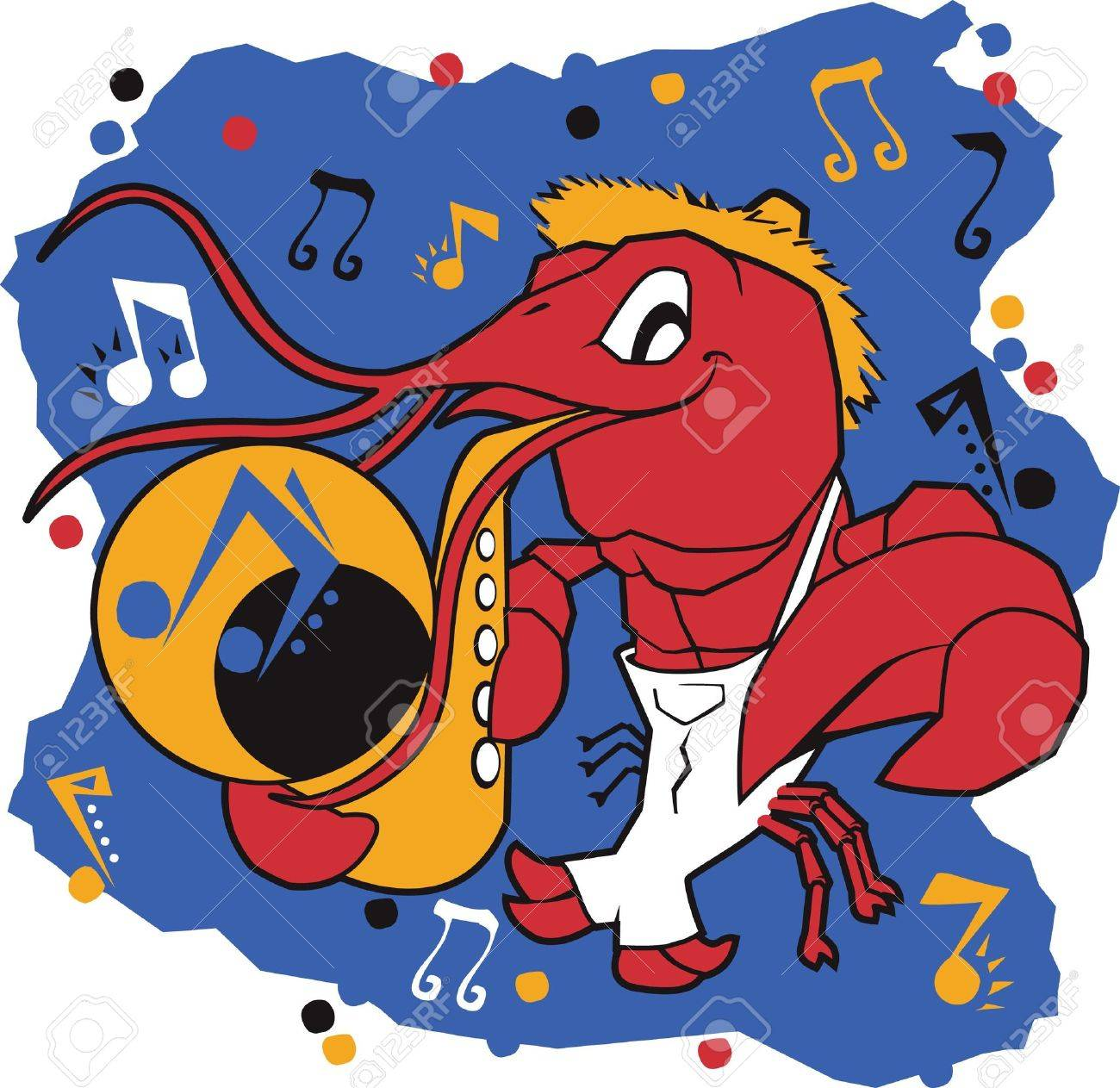 Musical Mudbug Stock Vector - 13453550