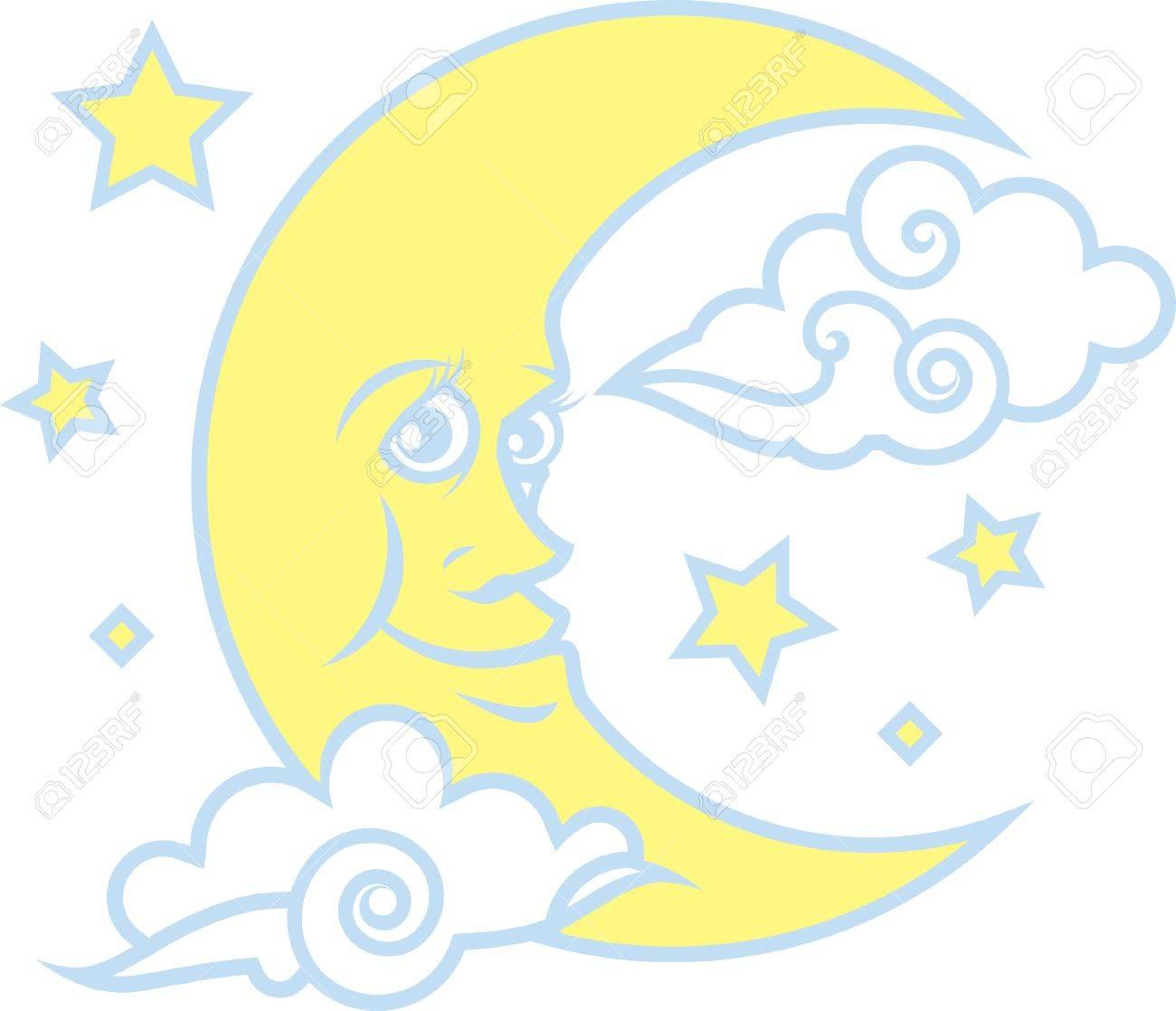 Moon   Stars Stock Vector - 14717162