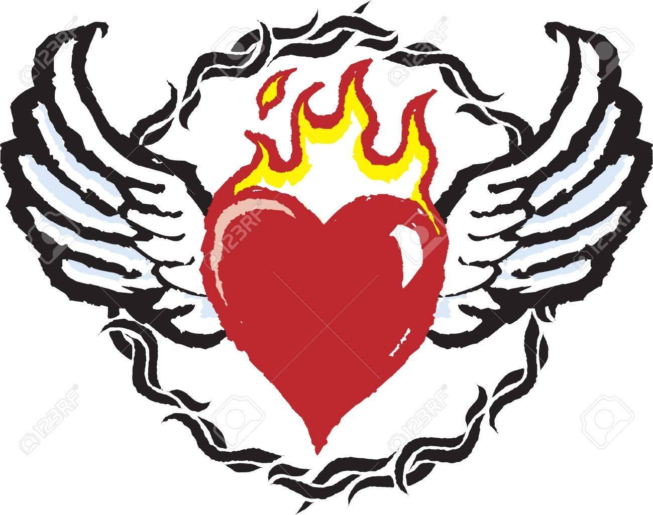 Fiery Heart Stock Vector - 17271976