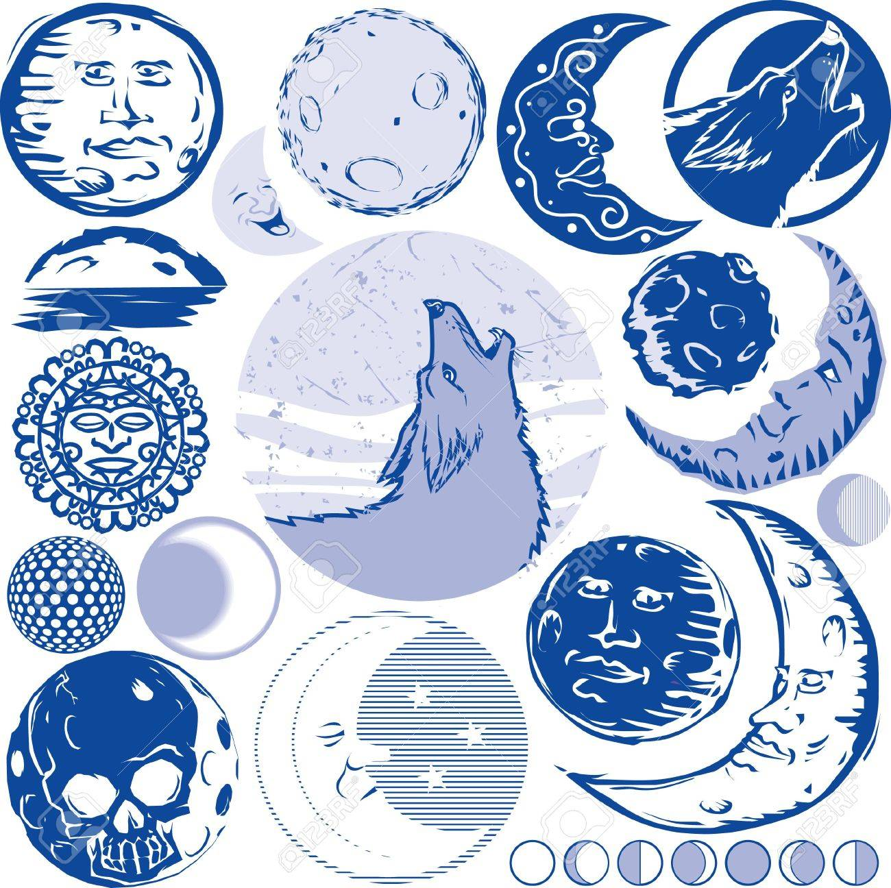 Moon Collection Stock Vector - 17443023