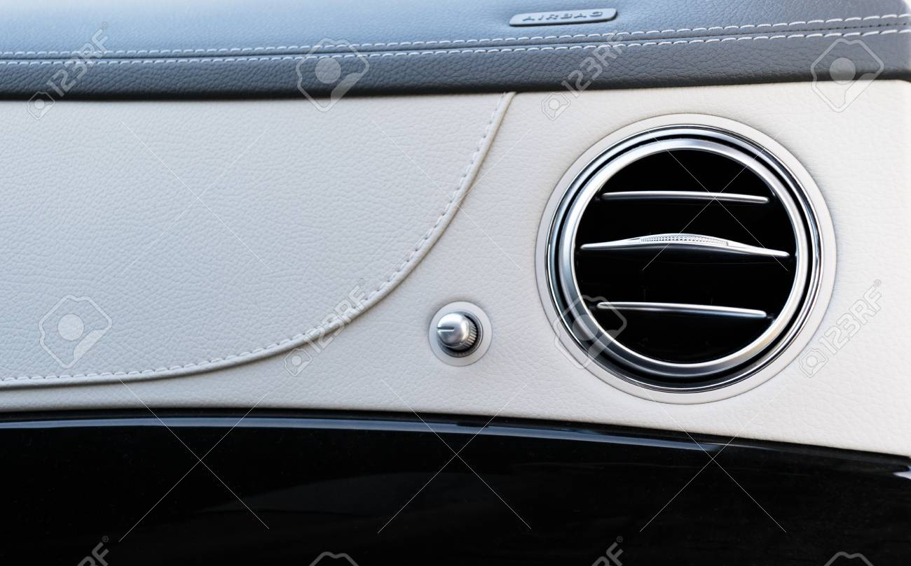 Ac Ventilation Deck Luxury Car Interior Modern Car Interior Stock