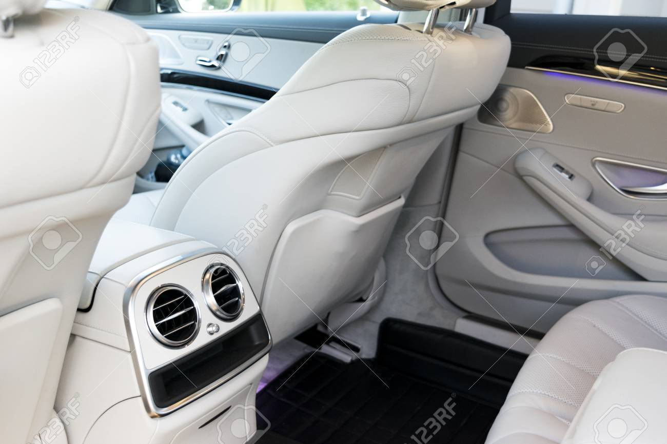 White Leather Interior Of The Luxury Modern Car Leather Comfortable Stock Photo Picture And Royalty Free Image Image 85613716
