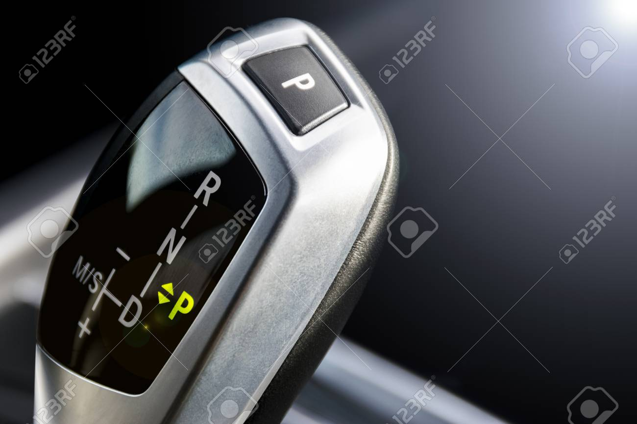 Automatic gear stick of a modern car, automatic transmission