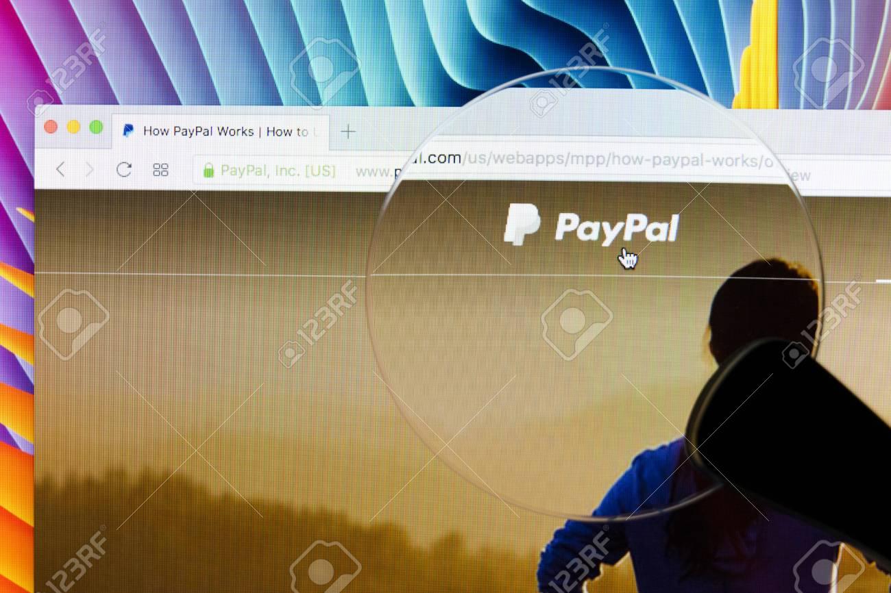 Sankt-Petersburg, Russia, December 5, 2017: Paypal homepage on