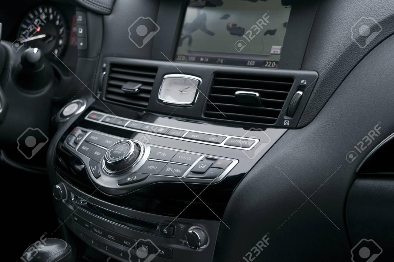 Luxury Car Inside Interior Of Prestige Modern Car Automatic