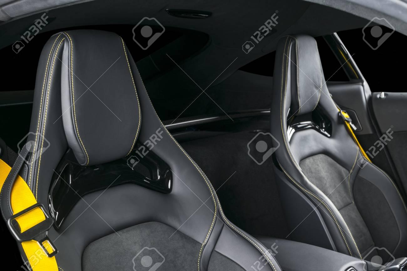 Modern Luxury Sport Car Inside Interior Of Prestige Modern Car