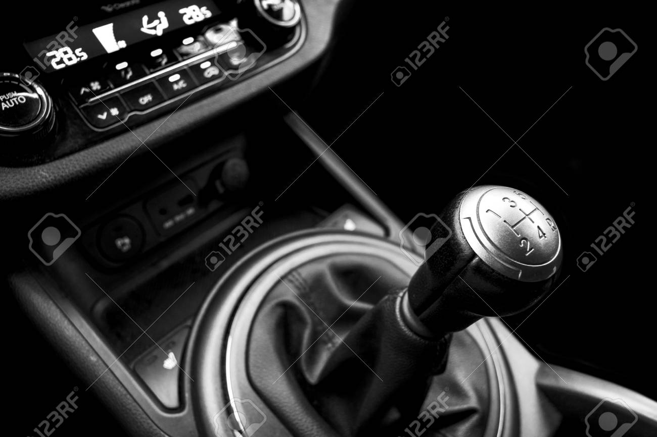 Close Up View Of A Gear Lever Shift Manual Gearbox Car Interior Stock Photo Picture And Royalty Free Image Image 96061914