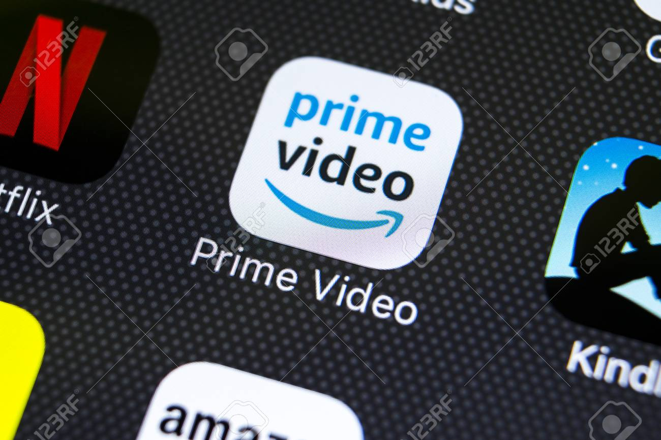 Sankt-Petersburg, Russia, March 1, 2018: Amazon Prime Video application