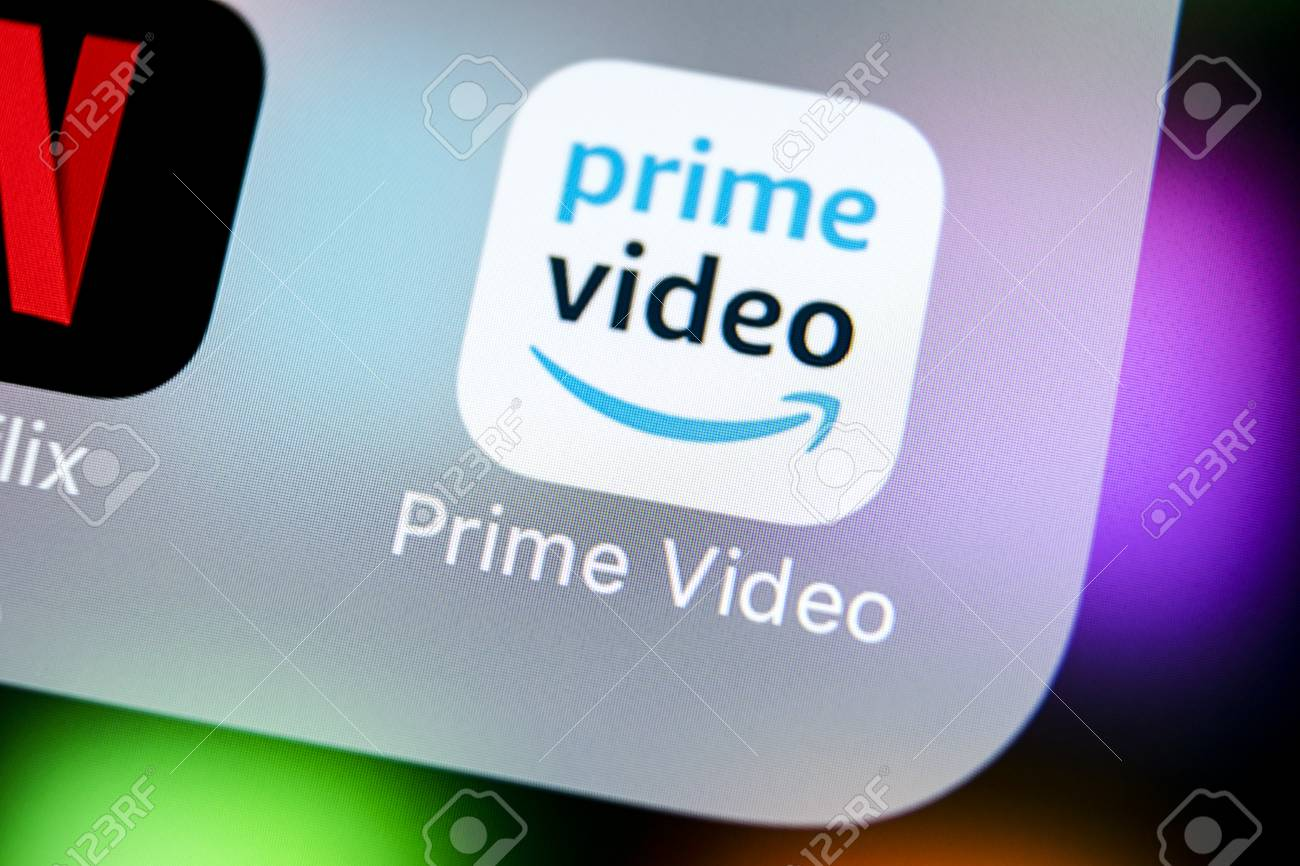 Sankt-Petersburg, Russia, March 22, 2018: Amazon Prime Video
