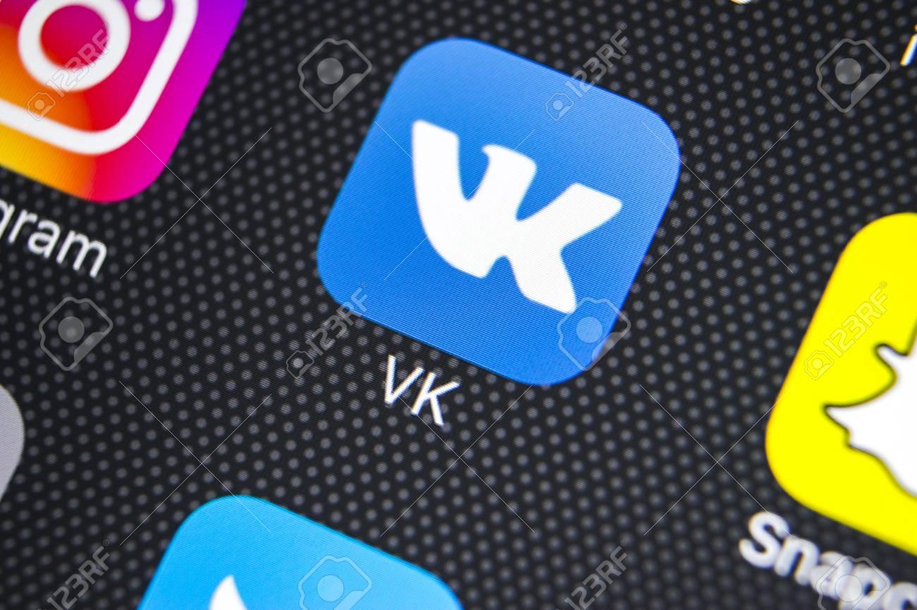 Sankt-Petersburg, Russia, March 24, 2018: Vkontakte application