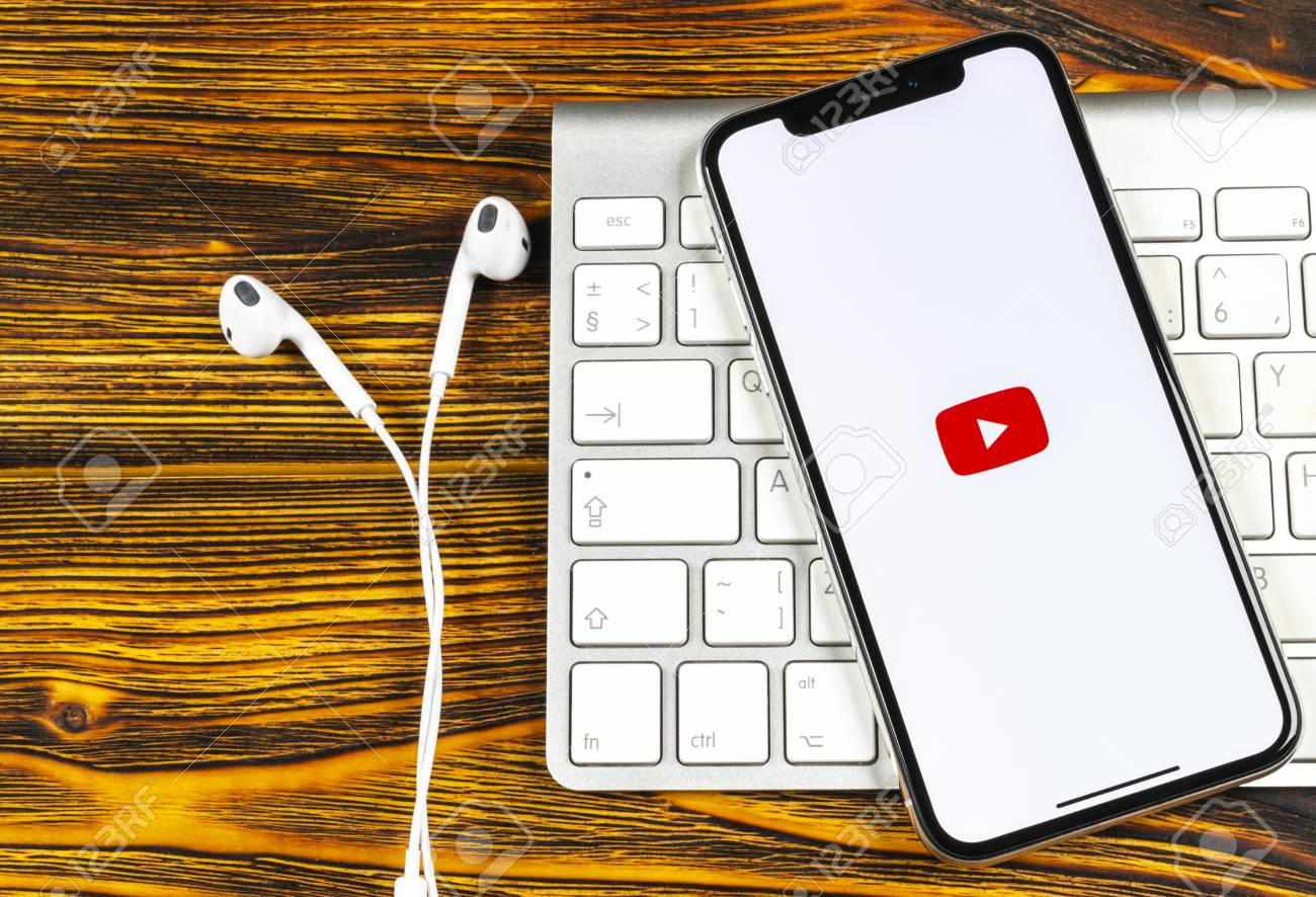 Sankt-Petersburg, Russia, June 2, 2018: YouTube application icon
