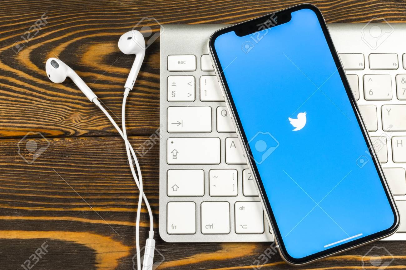 Sankt-Petersburg, Russia, June 2, 2018: Twitter application icon