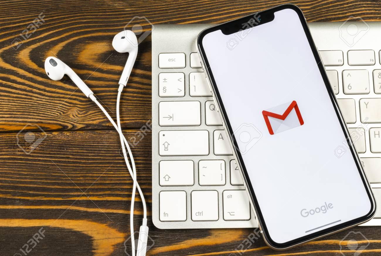Sankt-Petersburg, Russia, June 2, 2018: Google Gmail application