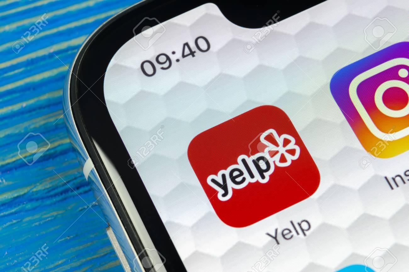 Sankt-Petersburg, Russia, June 20, 2018: Yelp application icon