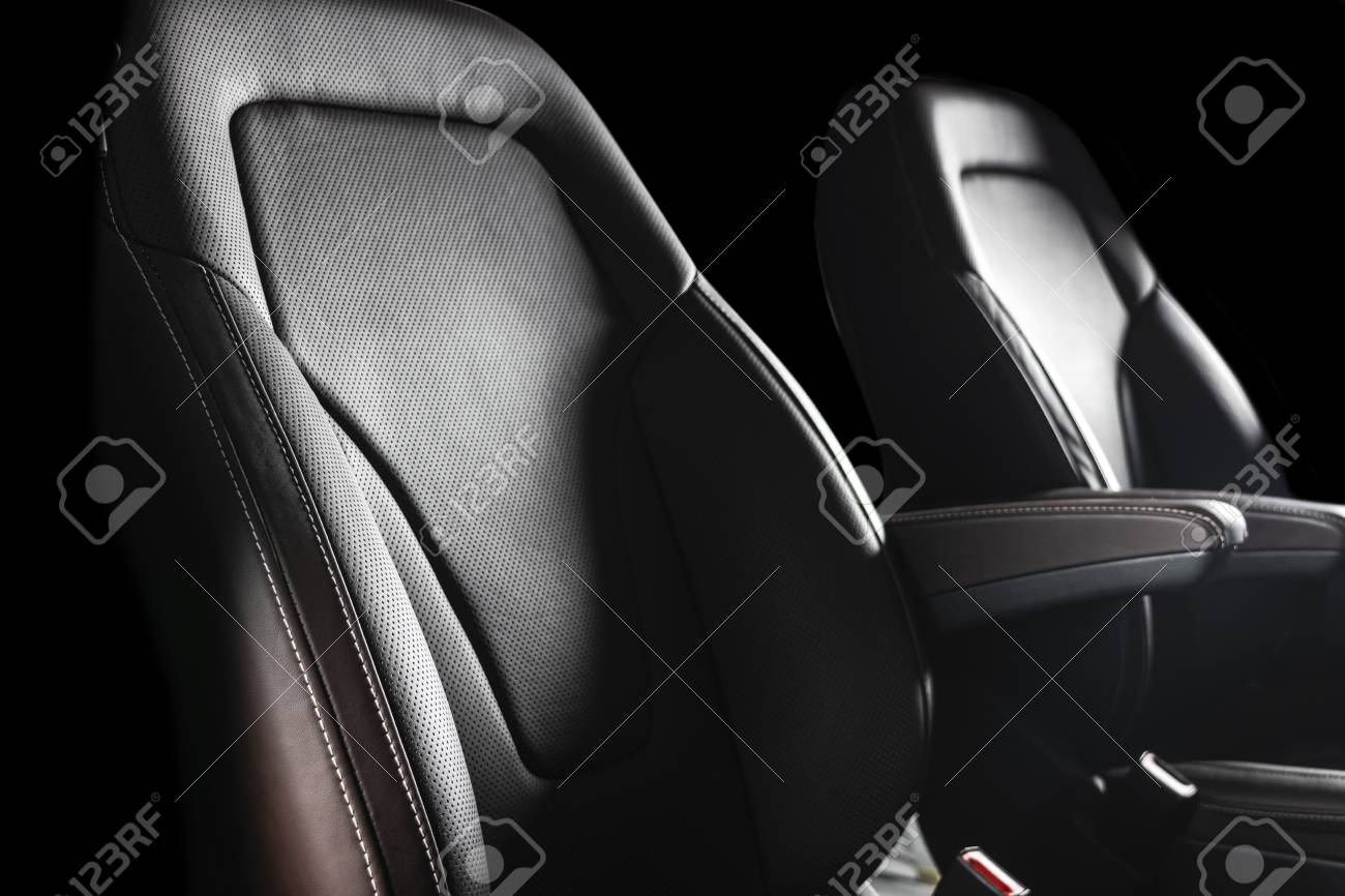 Modern Luxury Car Brown Leather Interior Part Of Leather Car Stock Photo Picture And Royalty Free Image Image 111630796