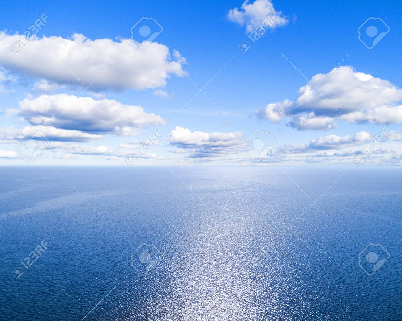 Aerial View Of A Blue Sea Water Background And Sun Reflections Stock Photo Picture And Royalty Free Image Image 113114228