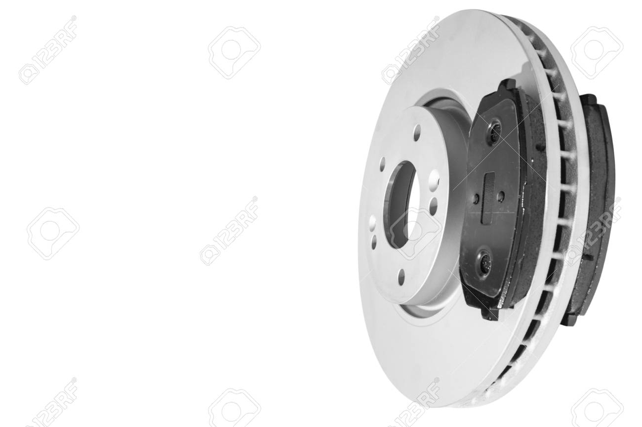 Car Brake Pads >> Car Brake Discs And Brake Pads Isolated On White Background