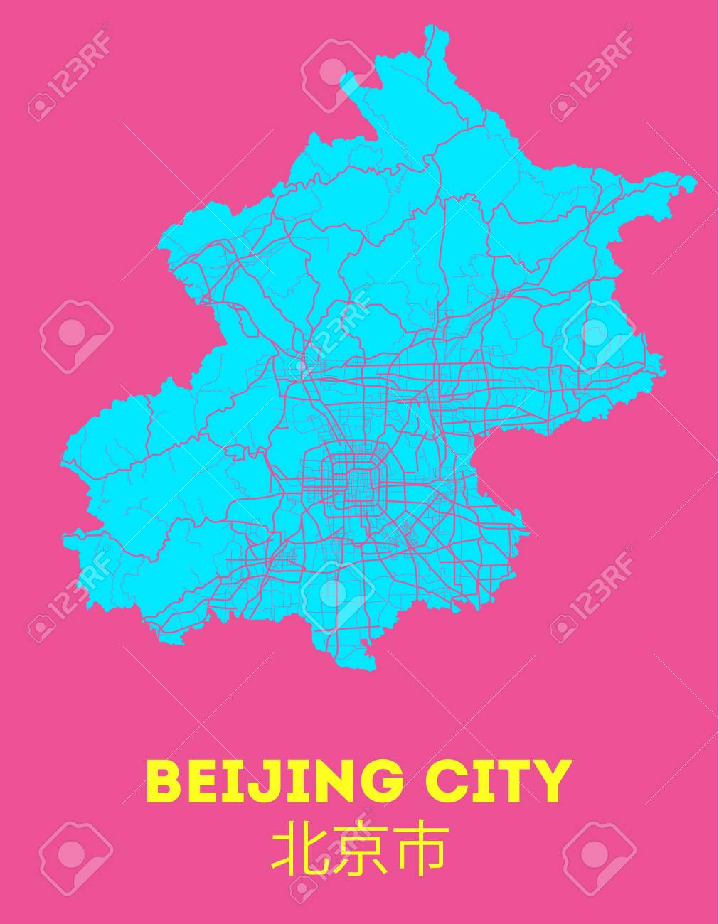 Picture of: Area Map Of Beijing China Beijing Vector City Street Map Royalty Free Cliparts Vectors And Stock Illustration Image 116688815